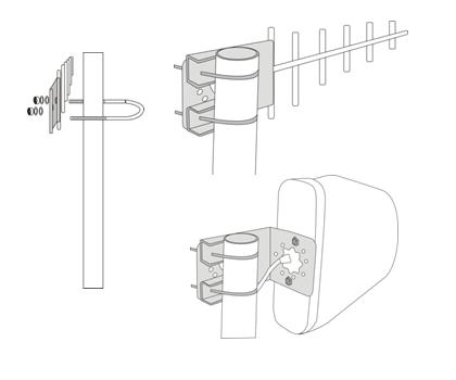Comment fixer l'antenne directive Yagi extérieure