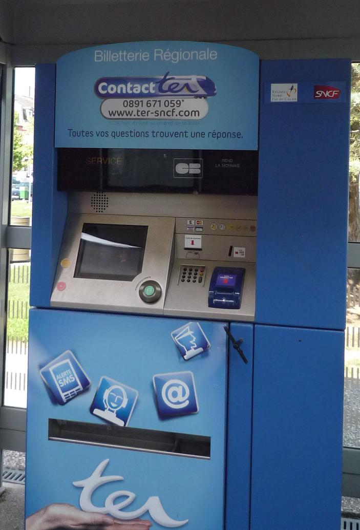Visuel d'un distributeur automatique de tickets de train
