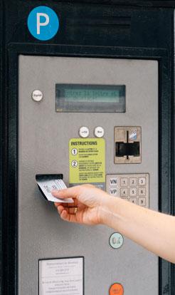 Visuel d'un automate paiment parking
