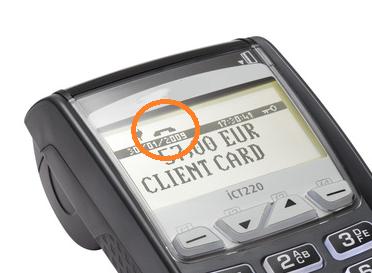 Visuel de l'écran d'un TPE Terminal de Paiment Electronique